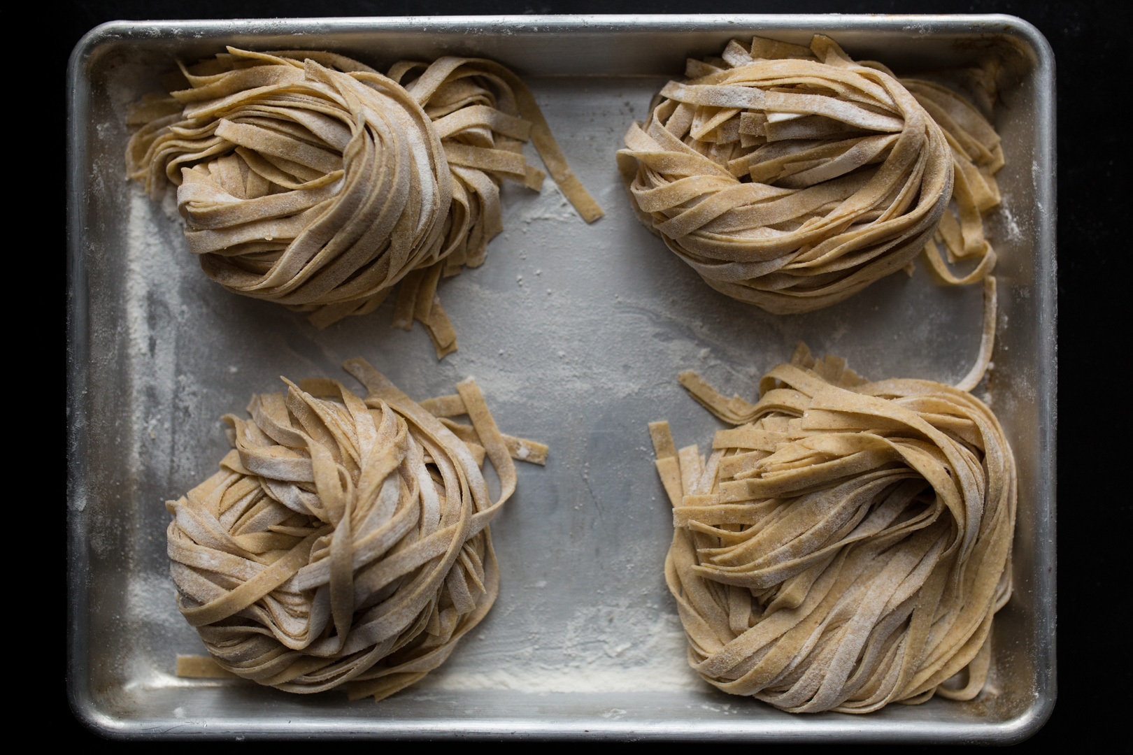 Fresh Pasta to be cooked.